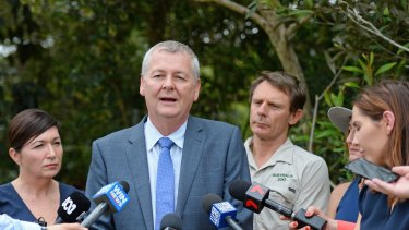 Mark Townend at the launch of the Koala Advisory Council at Australia Zoo  on Thursday. 'I want to push it, but I don't want to rush it.'
