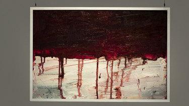 The painting believed to be Myuran Sukumaran's final work,<i>28/04/2015</i>.