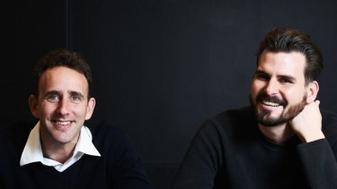 Flare co-founders from left: Dan Cohen, James Windon, are partnering with MYOB.