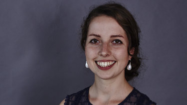 UQ PhD student Leela Dilkes-Hoffman is studying biodegradable plastics.