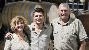 Kathy, Ben and Paul Drogemuller. The family launched its first wines in 1992, when Ben was two.
