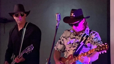 Max Pistols and Tommy Grules, of the Starwoods, played at the Avalon Bowlo on December 13.