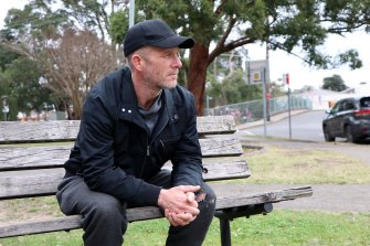Carl, 43, was sleeping rough in western Sydney and is now in temporary accommodation and working towards a permanent home.
