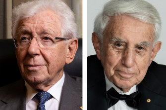 Frank Lowy and Harry Triguboff.