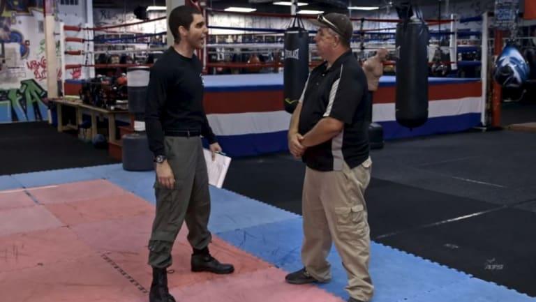 Sacha Baron Cohen, left, as Erran Morad in the show.
