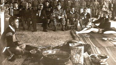 Petersen at his tribal farewell ceremony from the highlands of Vietnam.