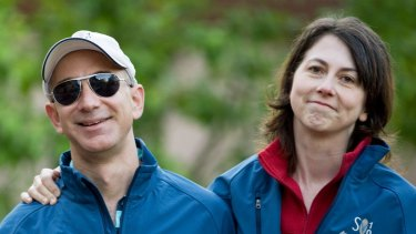Jeff and MacKenzie Bezos ... Amazon investors were spooked by the announcement of their divorce.
