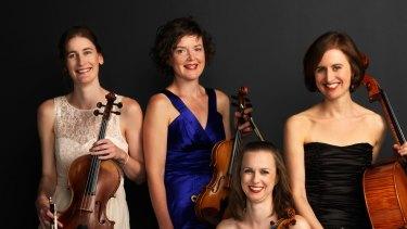 The Quartz Quartet is (L-R): Merewyn Bramble, Philippa West, Kathryn Taylor and Zoe Wallace.