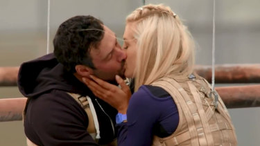 Bachelorette Ali Oetjen gets her first kiss, with 31-year-old Charlie.