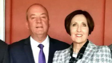 Then-MP Daryl Maguire and Louise Raedler Waterhouse.