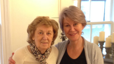 Denise Moore and her mother Lorna (left) who died in the UK last year.
