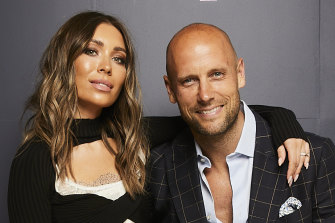 Melbourne glamour couple Rozalia and Nick Russian.