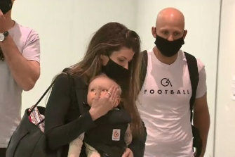 Family comes first: Gary Ablett missed a string of games to be with wife and son.