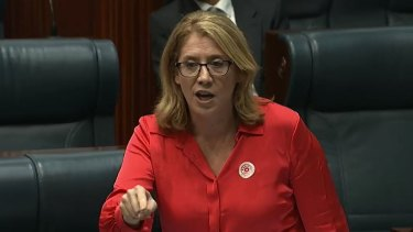 Transport Minister Rita Saffioti during a fiery debate in Parliament over whether women should be allowed to breastfeed in the chamber.