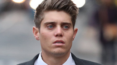 Possible retrial: Australian cricketer Alex Hepburn arrives to court in Worcester this week.