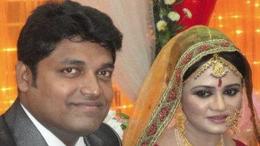 Shahab Ahmed and his wife Khondkar Fariha Elahi.