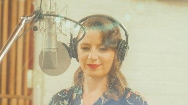 Jazz musician Gemma Sherry in the studio