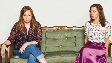 Mandy McElhinney (left) and Lucy Bell star in Sydney Theatre Company's production of Appropriate.