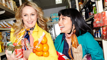Helen Thomson (left) and Catherine Van-Davies star in No Pay? No Way! for the Sydney Theatre Company.