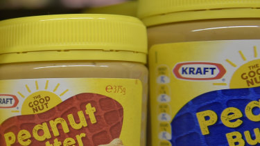 The distinctive peanut butter jars at the centre of the dispute.