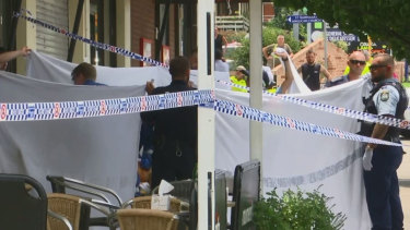 The victim was found collapsed on the pavement outside the salon when paramedics arrived.