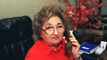 Millie Phillips at her Kent Street office in the 1990s.