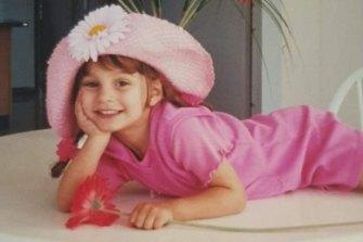 Celeste Manno when she was a little girl.