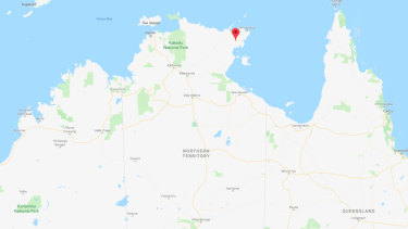 The woman was attacked by a crocodile at a remote Arnhem Land community.