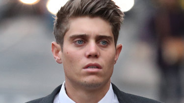 Possible retrial: Australian cricketer Alex Hepburn arrives to court in Worcester this week.