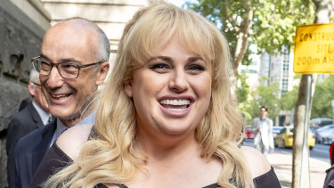 Rebel Wilson outside the Victorian Court of Appeal last year.