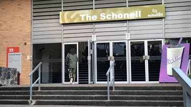The Schonell Theatre entrance at the University of Queensland.