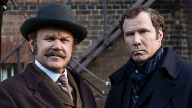 Watson (John C. Reilly) and Sherlock Holmes (Will Ferrell) in Holmes and Watson.