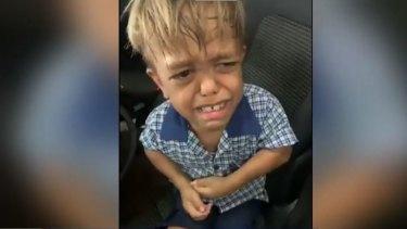 Nine-year-old Brisbane boy Quaden Bayles after he was bullied at school.