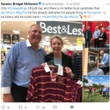 Longman LNP candidate Trevor Ruthenberg toured the electorate making funding announcements with Senator McKenzie