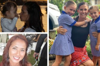 Domestic violence victims who had turned to the law for protection before their deaths include Gold Coast mother Tara Brown (top left), Hannah Clarke with daughters Aaliyah and Laianah (right), and Fabiana Palhares (bottom left).