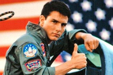 All American guy: Tom Cruise in Top Gun (1986).