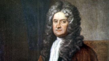 His year of self-isolation - and invention. A painting of Sir Isaac Newton, c1703.
