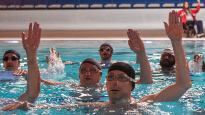 Sad men saved – by synchronised swimming – in French comedy