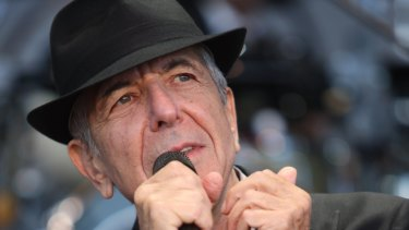 Leonard Cohen on stage during the first big concert at Hanging Rock in 2010.