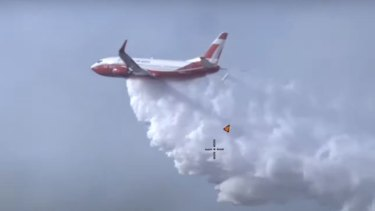 The Rural Fire Service's large air tanker named the Marie Bashir.