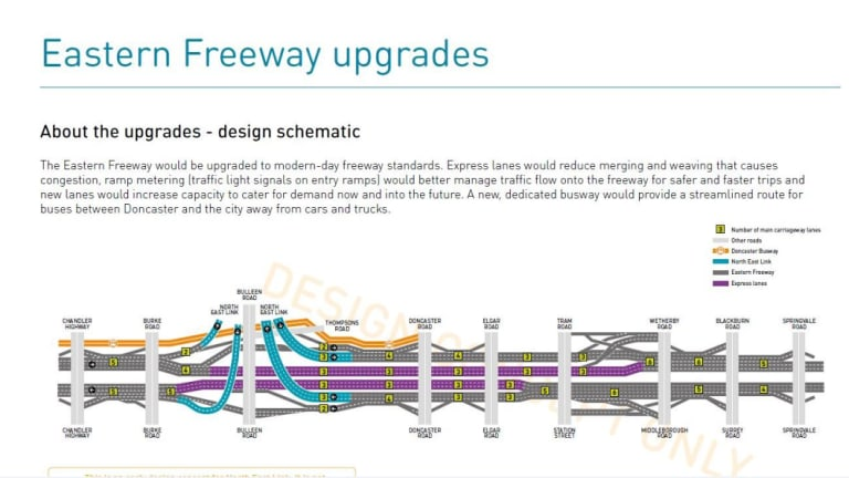 The new design include will five kilometres of tunnels.