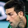 Novak Djokovic's triple double-fault mishap on way to first-round win