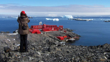 The Chilean Bernardo O'Higgins Station in Antarctica.