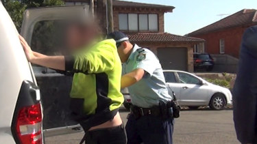 Police arrest the 30-year-old man at his workplace in Ryde.