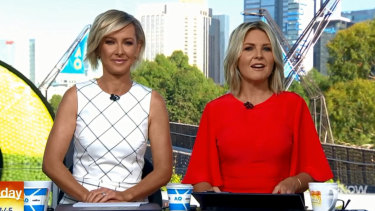 "Deb Knight and Georgie Gardner on the ""new-look Today""."