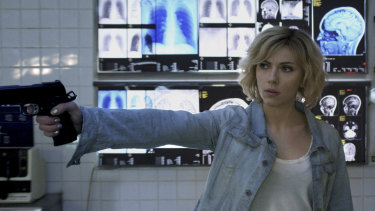 Scarlett Johansson in Lucy gets to use her full mental capacity ... and goes, well, a bit mental.