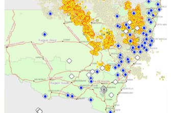 Lightning strikes scattered across northern NSW amid patchy rainfall over the weekend.