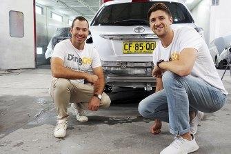 DingGo co-founders Shaun Janks (left) and Josh Sanford.