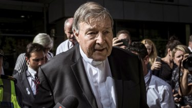 Cardinal George Pell leaves the County Court on December 11, 2018, after being found guilty of sexually assaulting two choirboys in 1996.
