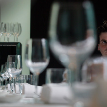George Calombaris eyes the future at Reserve in 2003.